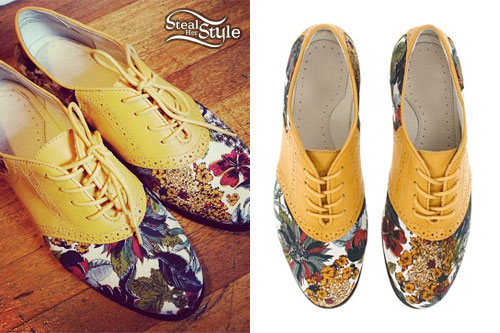 Sherri DuPree-Bemis: Yellow & Floral Oxfords