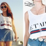"Sierra Kusterbeck: ""Je T'aime"" Cropped Tank"