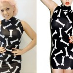 Amelia Lily: Bone Print Turtleneck Dress