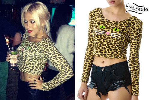 Amelia Lily: Leopard Cat Crop Top