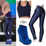 Amy Heidemann: Navy Blue Disco Pants Outfit
