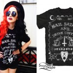 Ash Costello: Hail Satan & Drink Coffee Tee