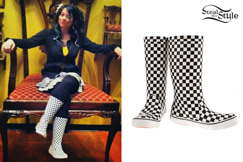 Beebs: Checkered Vans Rainboots