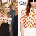 Bridgit Mendler: Oranges Print Shirt