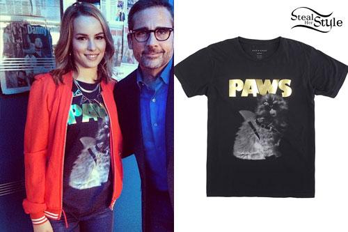 Bridgit Mendler: PAWS Cat T-Shirt