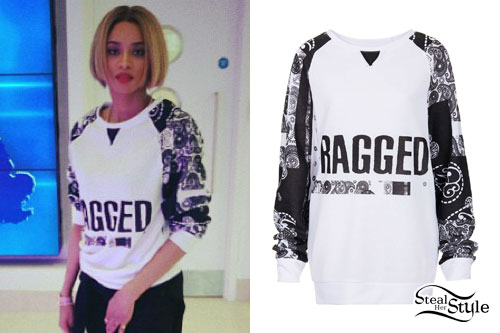 Ciara: Ragged Bandana Sleeve Sweater