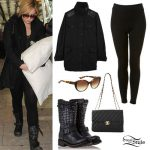 Demi Lovato: Black Jacket, Studded Boots