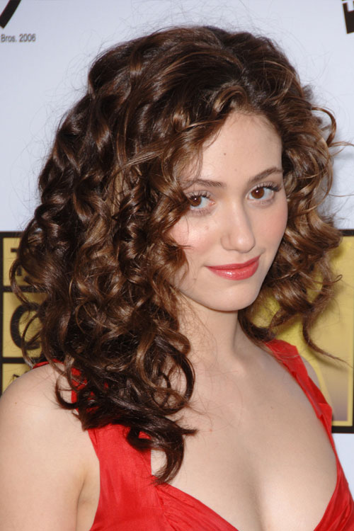 Emmy Rossum Curly Hairstyle Steal Her Style