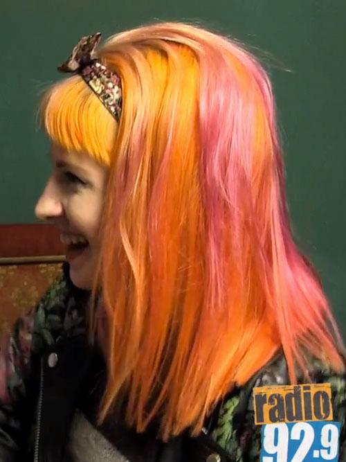 Hayley Williams Straight Orange Blunt Bangs Headband