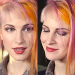 hayley-williams-makeup-gray-red