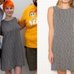 Hayley Williams: Black and White Swing Dress