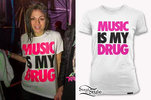 Jahan Yousaf: Music Is My Drug T-Shirt