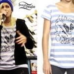 Jenna McDougall: Striped Anchor T-Shirt