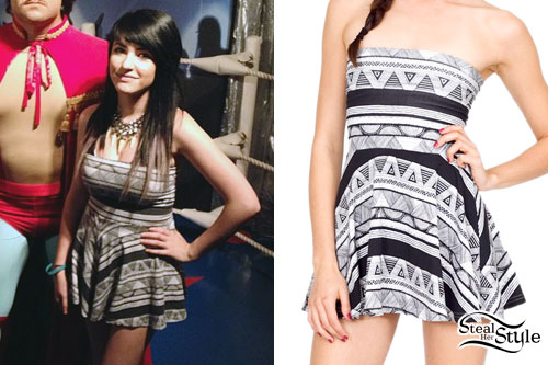 Jessica Ess: Tribal Print Strapless Dress