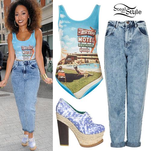 Leigh-Anne Pinnock: Motel Bodysuit, Acid Jeans