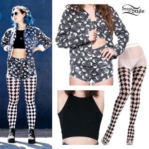 Lizzy Plapinger: Yin Yang Denim Jacket & Shorts