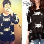 Mariel Loveland: Cat Print Sweater