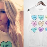 Mindy White: 'Loser' Conversation Hearts Tee