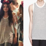 Selena Gomez: Striped Tank