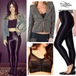 Victoria Justice: Black Disco Pants, Glitter Jacket
