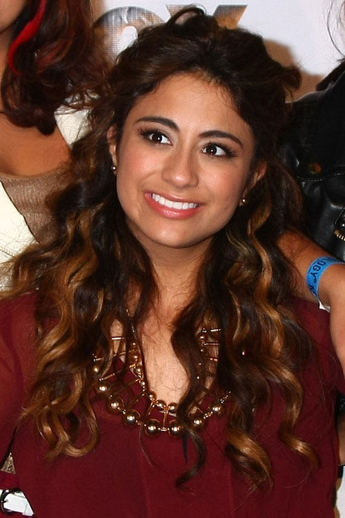Ally Brooke Curly Medium Brown All Over Highlights Half