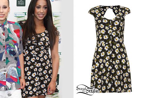 Alex Buggs: Daisy Print Button-Up Dress