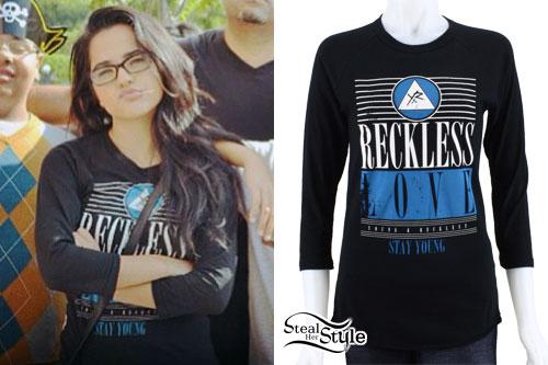 Becky G: 'Reckless Love' Long Sleeve Top