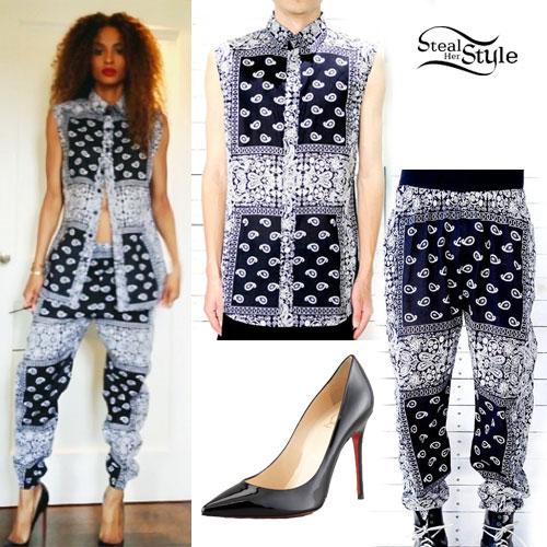 Ciara: Bandana Print Blouse & Pants
