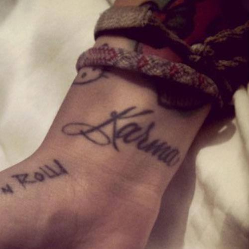 Karma Tattoo Photos Meanings