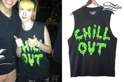 Hayley Williams: 'Chill Out' Slime Tee