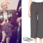 Hayley Williams: Polka Dot Crop Trousers