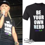Jenna McDougall: 'Be Your Own Hero' Black Tee