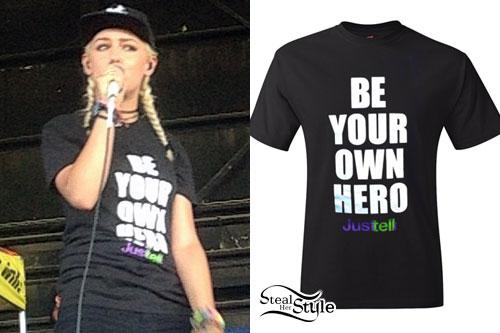 Jenna McDougall: 'Be Your Own Hero' Black Tee