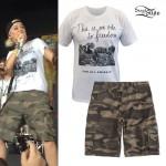 Jenna McDougall: Cow T-Shirt, Camo Shorts