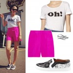 "Jessie J: ""Oh!"" Tee, Pink Shorts, Lace Sneakers"
