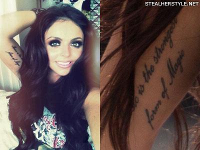 Jesy Nelson inner arm tattoo