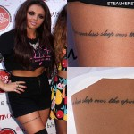 Jesy Nelson Thigh Tattoo