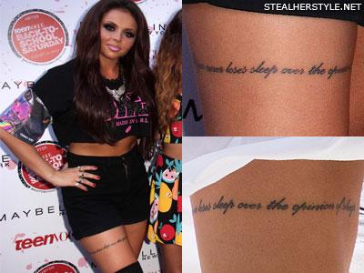 Jesy Nelson Thigh Tattoo