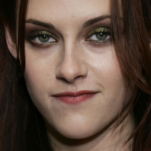 Kristen Stewart Makeup Brown Eyeshadow Green Eyeshadow