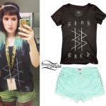Mariel Loveland: B&B Tee, Green Leopard Shorts