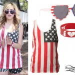 Mindy White: American Flag Tank & Sunglasses