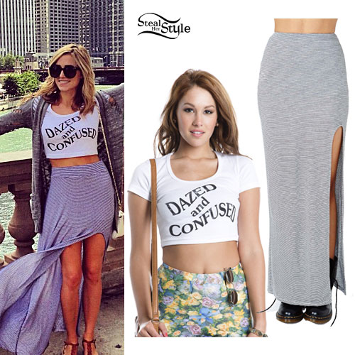 Mindy White: Dazed and Confused Crop Top