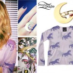 Mindy White: Unicorn Print Sweater