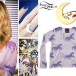 Mindy White: Unicorn Print Sweater