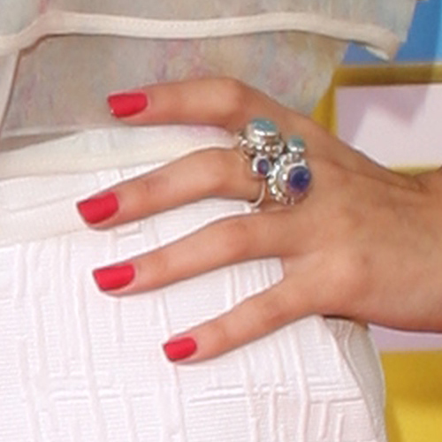 Selena Gomez Red Nails Steal Her Style