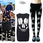 Yasmine Yousaf: Skull Cutout Top, Oh Shit Leggings