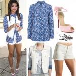 Zendaya: Paisley Blouse, Pink Shoes