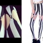 Ash Costello: Striped Garter Leggings