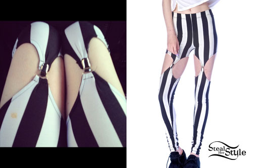 Ash Costello: Striped Garter Leggings