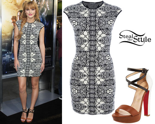 Bella Thorne Black White Dress Outfit Steal Her Style